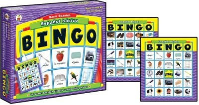 Carson-Dellosa Espanol Basico Basic Spanish Bingo Board Game