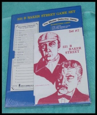 John N. Hansen Co. Inc. 221 B Baker Street Set Set 2 20 Additional Cases Board Game