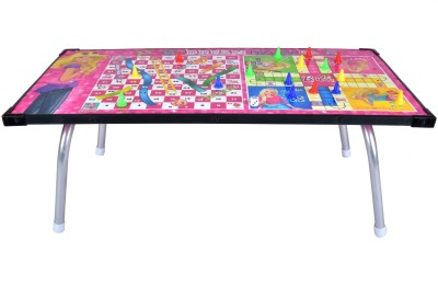 Mattel Barbie Multipurpose Gaming Table & Ludo, Slides & Ladders Game Board Game
