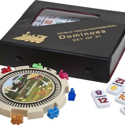Bello Games New York, Inc. Mexican Double Twelve Professional Domino Set With Numbers Board Game