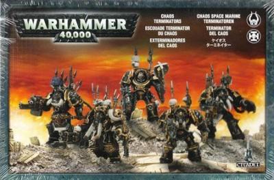 Games Workshop Warhammer 40K Chaos Space Marines Terminators Boxed Set Board Game