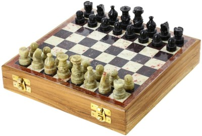 Stonkraft Handcrafted Stone Inlay Chess Game Board Set with Stone Carved Pieces, Pawns Board Game