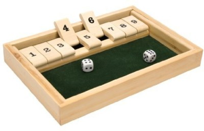 Schylling Bamboo Shut The Box Board Game