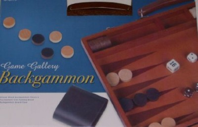 Cardinal Industries Cardinal Gallery Wood Backgammon Board Game