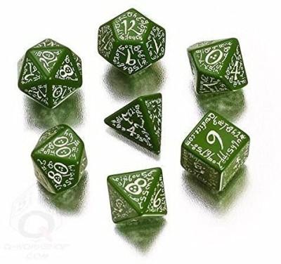Q Workshop Elvish Dice Green/White (7) Board Game