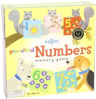 eeBoo Number Memory Board Game