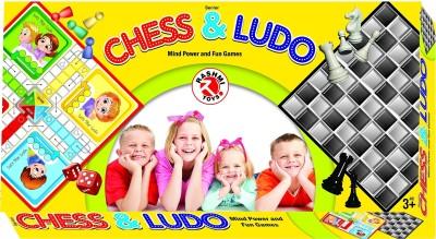 Rashmi Toys CHESS & LUDO - Mind Power and Fun Games Board Game