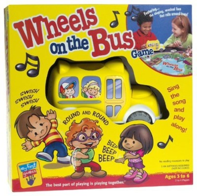 Milton Bradley Wheels On The Bus Board Game