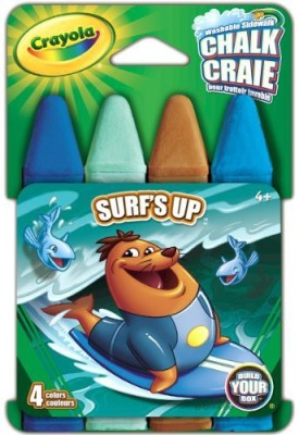 Crayola Build Your Box Surfs Up Chalk (4 Count) Board Game