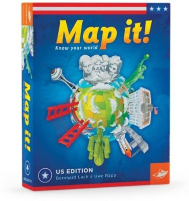 FoxMind Games Map It Usa Geography Board Game