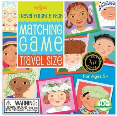 eeBoo I Never Forget A Face Matching Travel Board Game