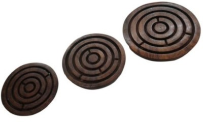 Onlineshoppee Wooden Hand Made Chakri Game Board Game