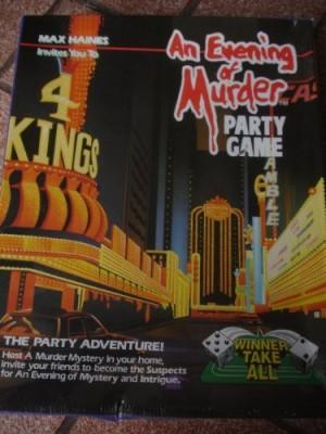 An Evening of Murder Winner Take All Board Game