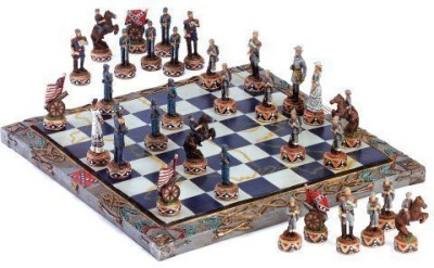 Eastwind Gifts Civil War Soldier Theme Chess And Piece Set Board Game
