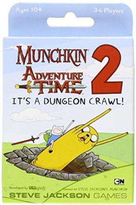 USAopoly Munchkin Adventure Time 2 It,S A Dungeon Crawl Expansion Set Board Game