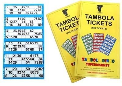 Tambola-Bingo Supermarket Tickets-Blue Border Board Game