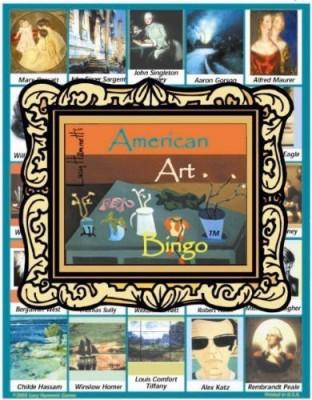 Lucy Hammett Games Lucy Hammett 8177 American Art Bingo Board Game