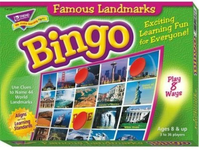 Trend Enterprises Inc Famous Landmarks Bingo Board Game