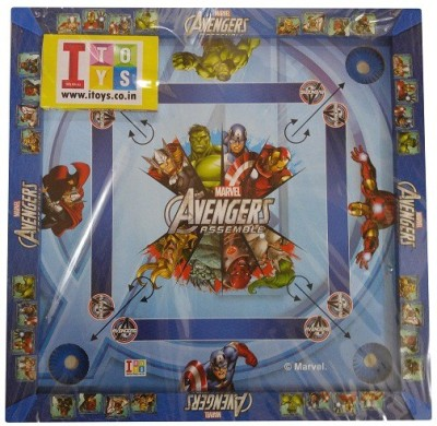 Disney 26 x 26 Inch Avengers Assemble Carrom + Other Board Game available at Flipkart for Rs.899