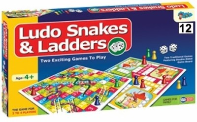 Sunny Ludo, Snake & ladders 12 Board Game
