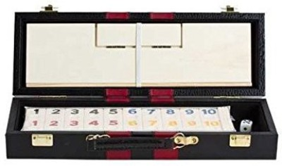 Fame Deluxe Rummy With Wooden Racks In Attache Case Board Game