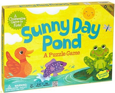 Peaceable Kingdom Sunny Day Pond Award Winning Cooperative For Kids Board Game