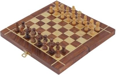 Crafts,man Square Wooden Chess (Non- Magnetic) with Storage Size: 12 x 12 inches Board Game