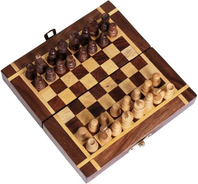 Craftatoz 10 inches wooden Backgammon and magnetic chess with pieces Board Game