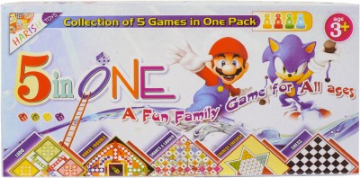 Harish Toys 5 in One Game (BIG) Board Game