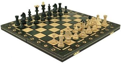 Wegiel Senator Green Handcrafted Tournament Wooden Chess 16 X 16
