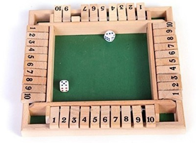 VidaToy Deluxe Four Sided 10 Number Shut The Box Wooden Board Game