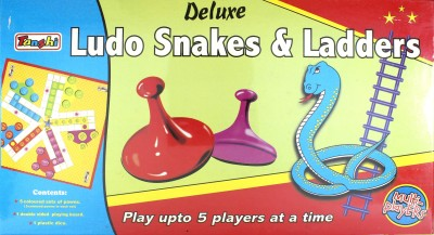 Tanshi Deluxe 5 Players Ludo Snakes & Ladders Board Game