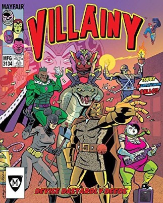Mayfair Games Villainy Diabolical Doomdealing Doers Of Dastardly Deeds Board Game