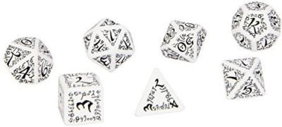Q Workshop Elvish Dice White/Black (7) Board Game