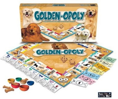 Late for the Sky golden retriever-opoly Board Game