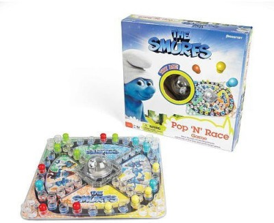 The Smurfs Smurfs Pop N Race Board Game