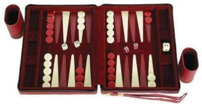 Middleton Games Portfolio Gammon Maroon Magnetic Travel Backgammon Set Board Game