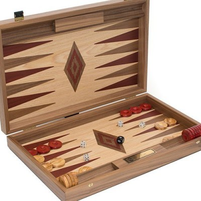 Bello Games New York, Inc. Aphrodite Deluxe Walnut & Oak Backgammon Set From Greece Board Game