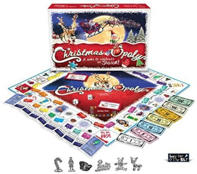 Late for the Sky Christmas-opoly Board Game