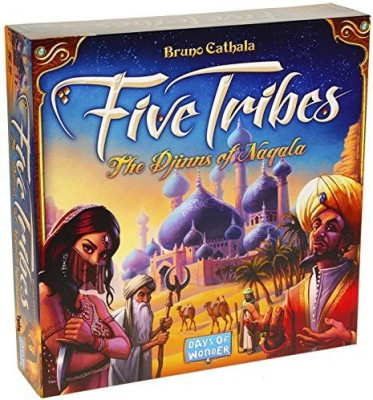 Days of Wonder Five Tribes _ The Djinns Of Nagala _ For 2 To 4 Players Board Game