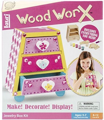 Lauri S Wood Worx Jewelry Box Kit Board Game