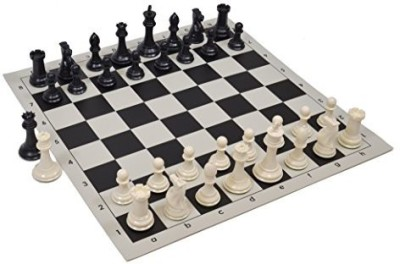Wholesale Chess Quadruple Weighted Chess Pieces And Vinyl Ivory/Black Board Game