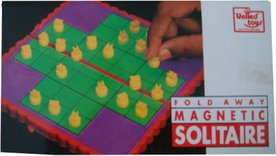 United Toys Fold Away Magnetic Solitaire Board Game