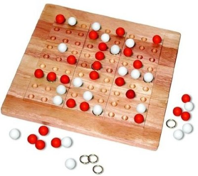 Mad Cave Birds Tic Tac Ku Mad Cave(Red/White) Board Game