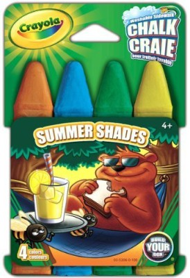 Crayola Build Your Box Summer Shades Chalk (4 Count) Board Game