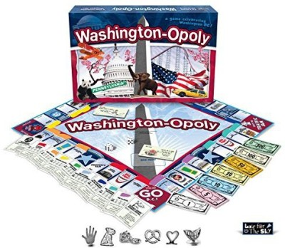 Late for the Sky Washington Dcopoly Board Game