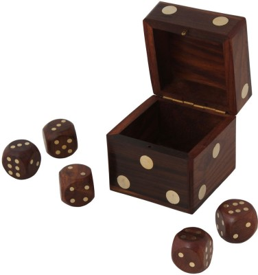 Craft Art India Handmade Wooden Dice Board Game