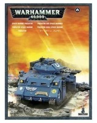 Games Workshop Space Marines Predator Tank Box Warhammer 40K Board Game