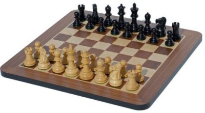 WE Games Black Stained Wood 16 Inches Staunton Chess Set Board Game