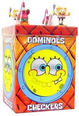 Cardinal Industries Spongebob Dominoes/Checkers In Lenticular Box Board Game